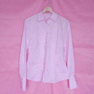 Tops - Light pink button up shirt size Large